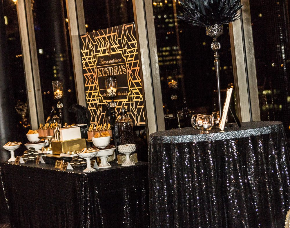 Gatsby 30th Birthday Styling - Style My Celebration