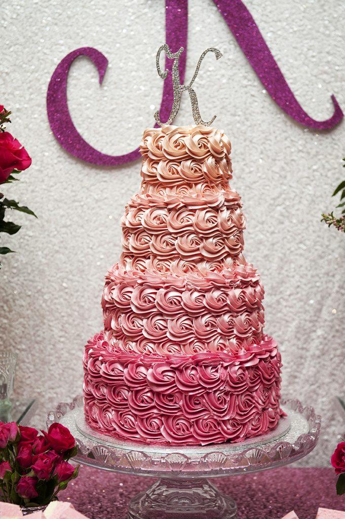 Pink Ombre Cake - Style My Celebration