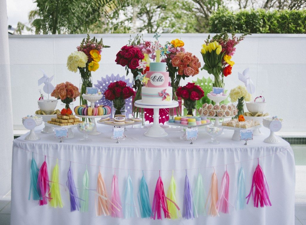 First Birthday Dessert Table - Style My Celebration