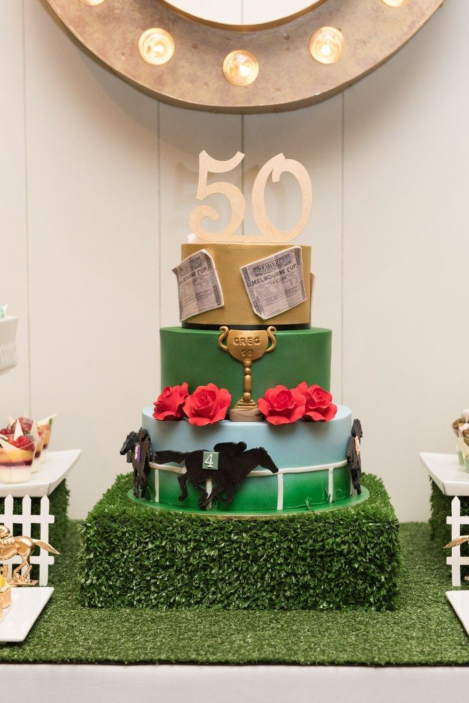 horse racing dessert table