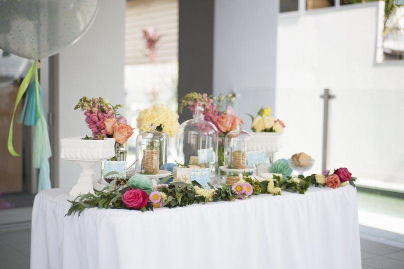 Bespoke styled cheese table for a first birthday celebration by Style My Celebration - Image by Nicole Barralet